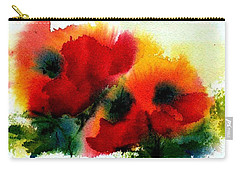 Three Poppies Carry-all Pouch