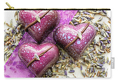 Three Purple Hearts Carry-all Pouch by Sabine Edrissi