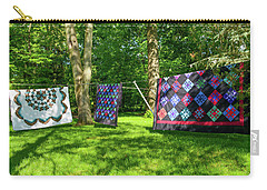 Three Quilts In The Breeze Carry-all Pouch