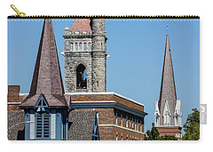 Three Steeples Of St Johnsbury Vermont Carry-all Pouch by Tim Kirchoff