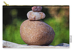 Carry-all Pouch featuring the photograph Three Stones by Ella Kaye Dickey