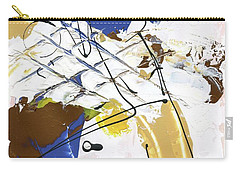 Carry-all Pouch featuring the painting Three Color Palette Blue 3 by Michal Mitak Mahgerefteh