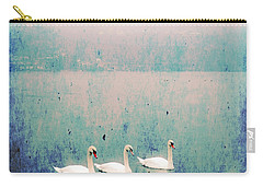 Three Swans Carry-all Pouch by Joana Kruse