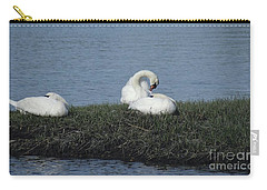 Three Swans Napping Carry-all Pouch