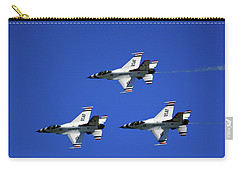 Carry-all Pouch featuring the photograph Three Thunderbirds by Raymond Salani III