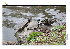 Three Turtles Carry-all Pouch by Suhas Tavkar