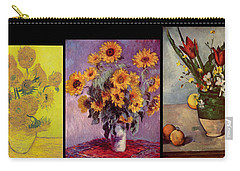 Three Vases Van Gogh - Cezanne Carry-all Pouch by David Bridburg