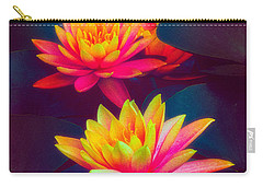Carry-all Pouch featuring the photograph Three Waterlilies by Chris Lord
