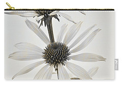 Three White Coneflowers Carry-all Pouch