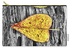 Three Yellow Leaves Carry-all Pouch