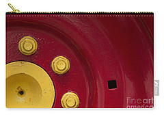 Three Yellow Nuts On A Red Wheel Carry-all Pouch by Wendy Wilton