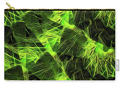 Threshed Green Carry-all Pouch by Ron Bissett