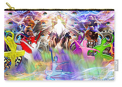 Carry-all Pouch featuring the digital art Throneroom Dance by Dolores Develde
