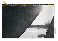 Carry-all Pouch featuring the photograph Through A Bird Blind by Sue Collura