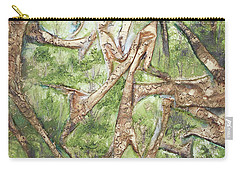 Carry-all Pouch featuring the mixed media Through Lacy Branches by Angela Stout