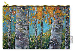 Through The Aspen Trees Diptych 1 Carry-all Pouch