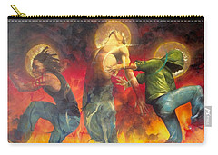 Carry-all Pouch featuring the painting Through The Fire by Christopher Marion Thomas