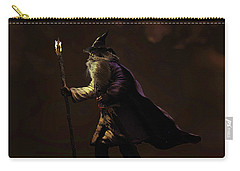 Carry-all Pouch featuring the sculpture Through The Gloom by Dave Luebbert