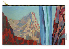Carry-all Pouch featuring the painting Through The Narrows, Zion by Erin Fickert-Rowland