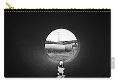 Carry-all Pouch featuring the photograph Through The Pipe by Keith Elliott