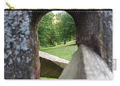 Carry-all Pouch featuring the photograph Through The Post by Robert Knight