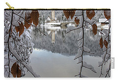 Carry-all Pouch featuring the photograph Through The Snow Trees by Ian Middleton