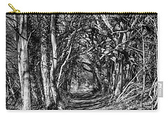 Through The Tunnel Bw 16x20 Carry-all Pouch