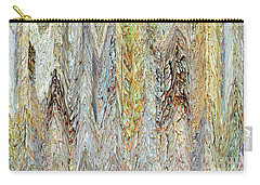 Carry-all Pouch featuring the photograph Through Tiny Cracks In The Boardwalk by Danica Radman