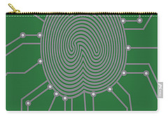 Thumbprint With Circuit Board Illustration Carry-all Pouch