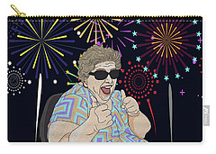 Carry-all Pouch featuring the digital art Thumbs Up by Megan Dirsa-DuBois