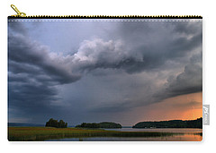 Carry-all Pouch featuring the photograph Thunder At Siuro by Jouko Lehto