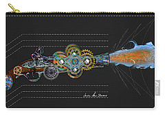Carry-all Pouch featuring the digital art Thunder Gun by Iowan Stone-Flowers