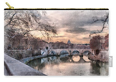 Tiber - Aquarelle Carry-all Pouch by Sergey Simanovsky
