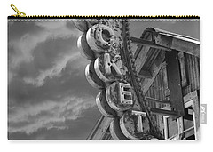 Carry-all Pouch featuring the photograph Tickets Bw by Laura Fasulo