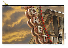 Carry-all Pouch featuring the photograph Tickets  by Laura Fasulo