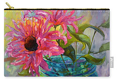 Carry-all Pouch featuring the painting Tickled Pink by Chris Brandley