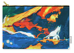 Carry-all Pouch featuring the painting Tidal Forces by Dominic Piperata