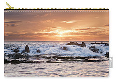 Carry-all Pouch featuring the photograph Tidal Sunset by Heather Applegate