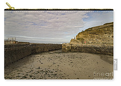 Carry-all Pouch featuring the photograph Tide Out Portreath by Brian Roscorla
