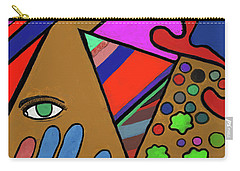 Carry-all Pouch featuring the mixed media Tie Dye Abstract by David Jackson
