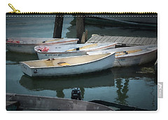 Carry-all Pouch featuring the photograph Tied To The Pier by Guy Whiteley