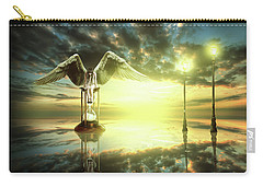 Carry-all Pouch featuring the digital art Time To Reflect by Nathan Wright