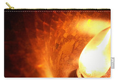 Carry-all Pouch featuring the photograph Tiffany Lamp Inside by Robert Knight