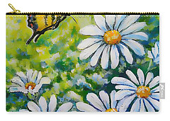 Tiger And Daisies  Carry-all Pouch