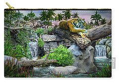 Tiger At Dusk Carry-all Pouch