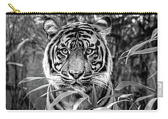 Tiger B/w Carry-all Pouch