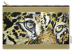 Carry-all Pouch featuring the painting Tiger Eyes by Kovacs Anna Brigitta
