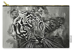 Tiger Head Monochrome Carry-all Pouch