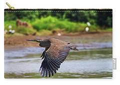 Tiger Heron Carry-all Pouch by Arthur Dodd