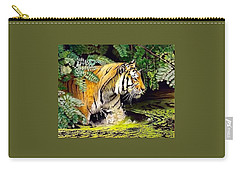 Tiger In The Dundurban Delta Carry-all Pouch
